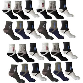Pack Of 12 Z Decor Men Loafer Multicolour Cotton Socks