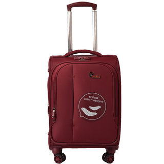 F Gear Aspire Polyester 54 cms Maroon Softsided Cabin Luggage