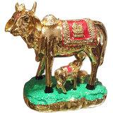 Kamdhenu Cow With Calf (Silver Plated)-I