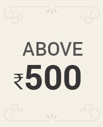 Above Rs.500