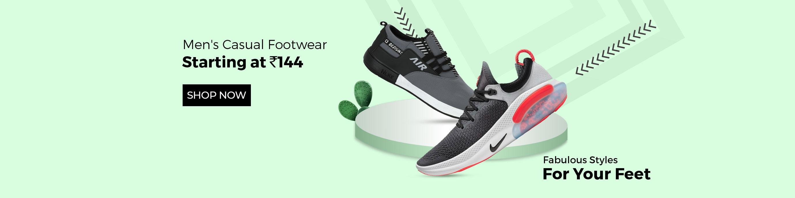 ShopClues.com - Men's footwear starting at just ₹144