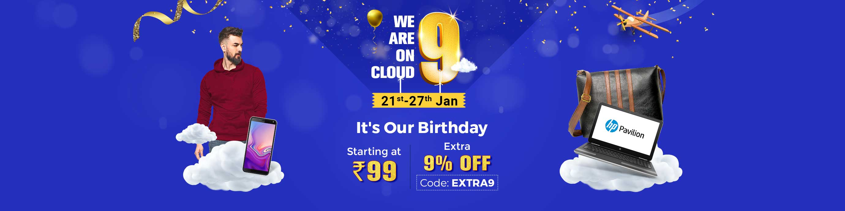 ShopClues.com - Additional 9% discount on all products
