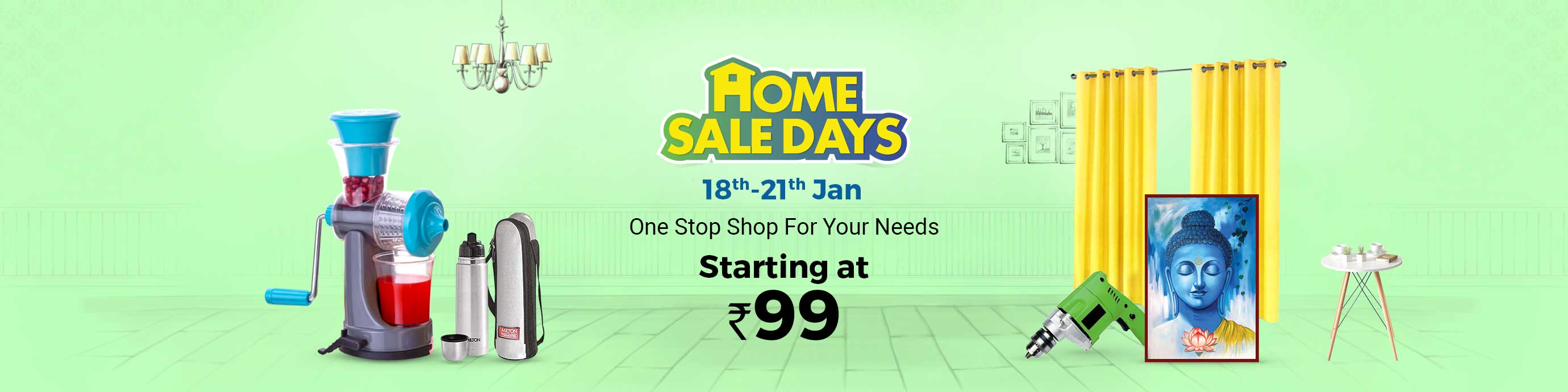 ShopClues.com - Home Sale Days – Home and Kitchen Products starting at just ₹99