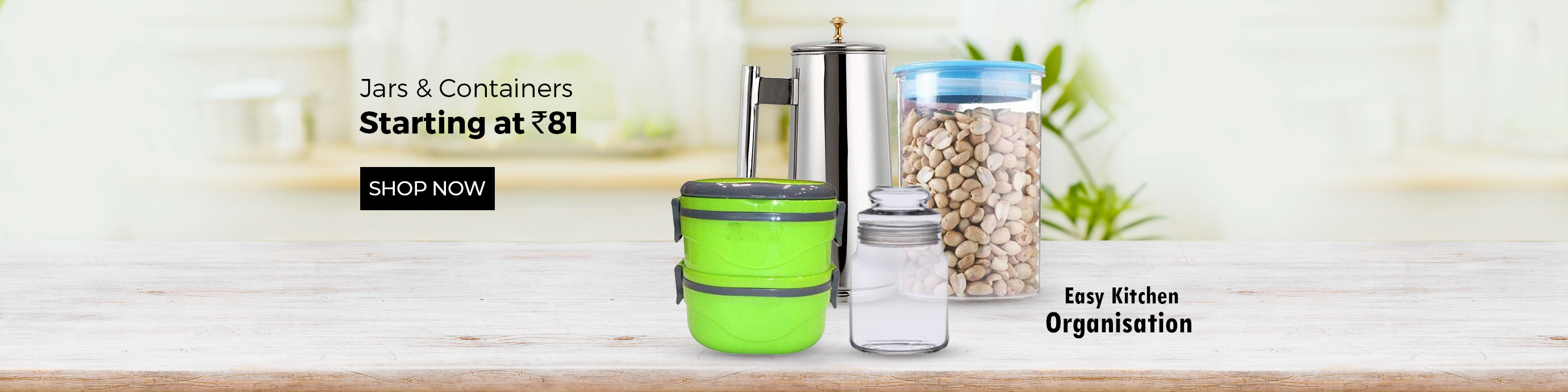 ShopClues.com - Jars and Containers starting at just ₹81