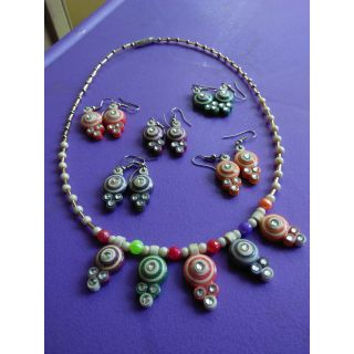 5 in 1 Necklace set with earrings