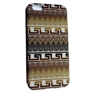 Apple iPhone 6  4.7  Pattern Back Cover Case  Brown  with Screen Protector