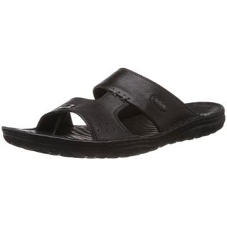 100% Original Dr.Scholl Men's Basic Mule Concealed Black Leather Sandals - 8 UK