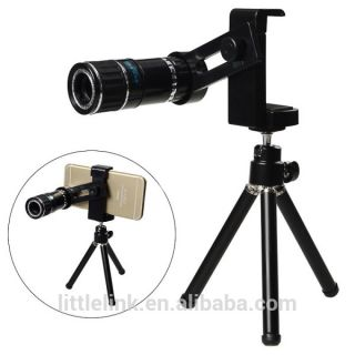 12x zoom mobile phone telescope lens with tripod