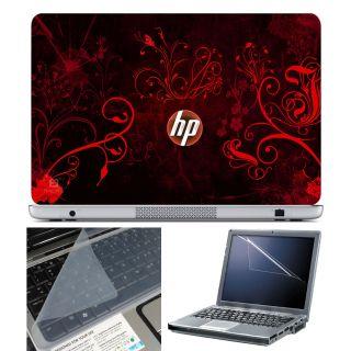 FineArts Laptop Skin 15.6 Inch With Key Guard Screen Protector   HP Orange Wallpaper