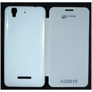 Flip Cover Case for Micromax Yu YUREKA AQ5510 White