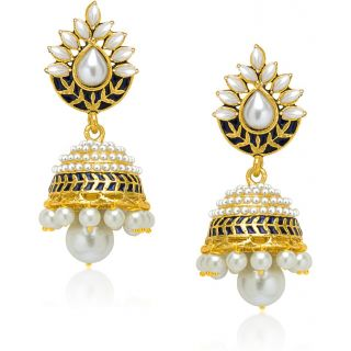 Vk Jewels Coloured Bead Earring Set