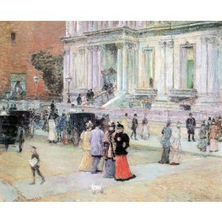 The Manhattan Club (The Villa Of The Stewarts) By Hassam - Fine Art Print