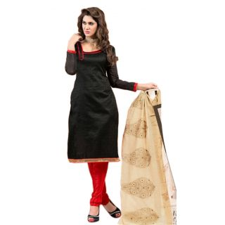 Stepin Chanderi Self Design, Printed Salwar Suit Dupatta Material  Unstitched