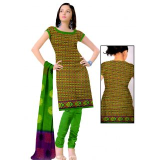 Pari collection Printed Pure cotton Salwar Suit Dupatta Material Unstitched