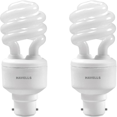 Havells T3 Spiral B-22 Warm Hpf 15 W Cfl Bulb (White, Pack Of 2) Image