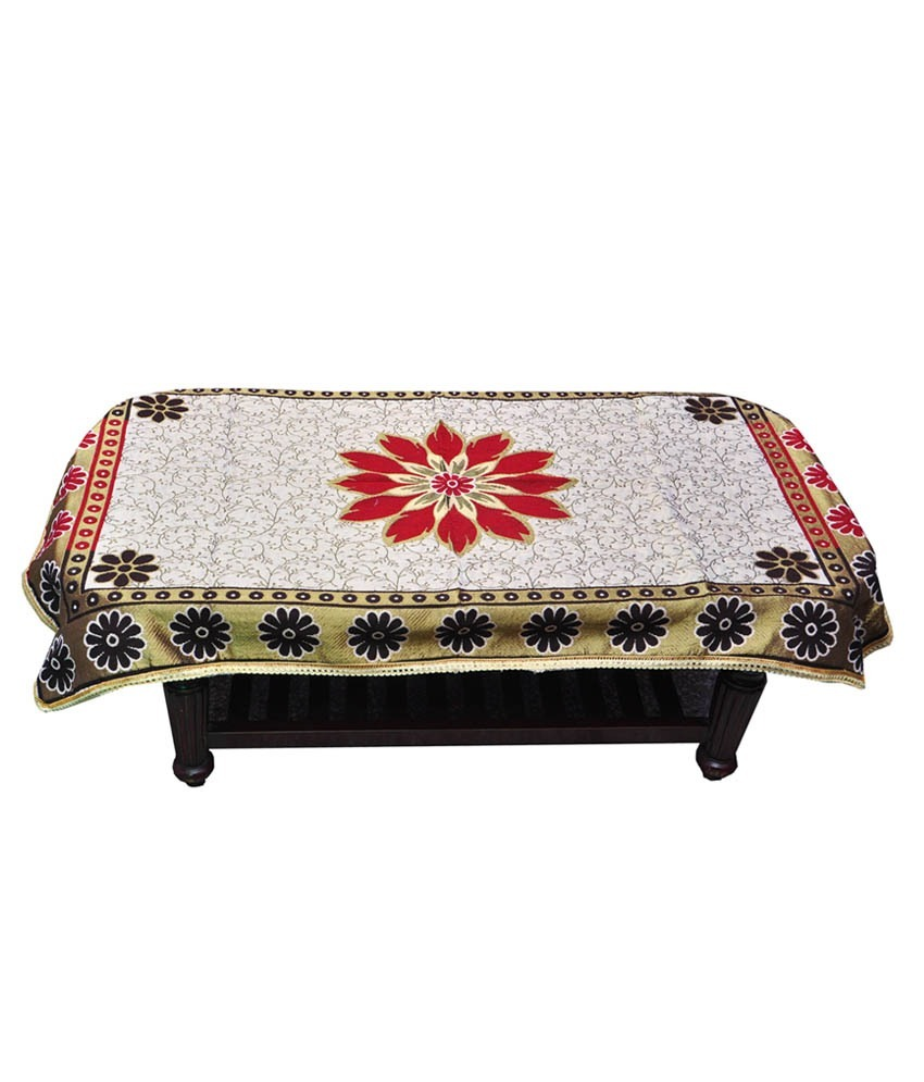 GuruKripa beautiful color cotton table cover at shopclues