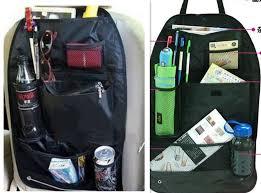 Car Back Seats Multi functional Universal Pockets Storage Organiser Bag, Standard black