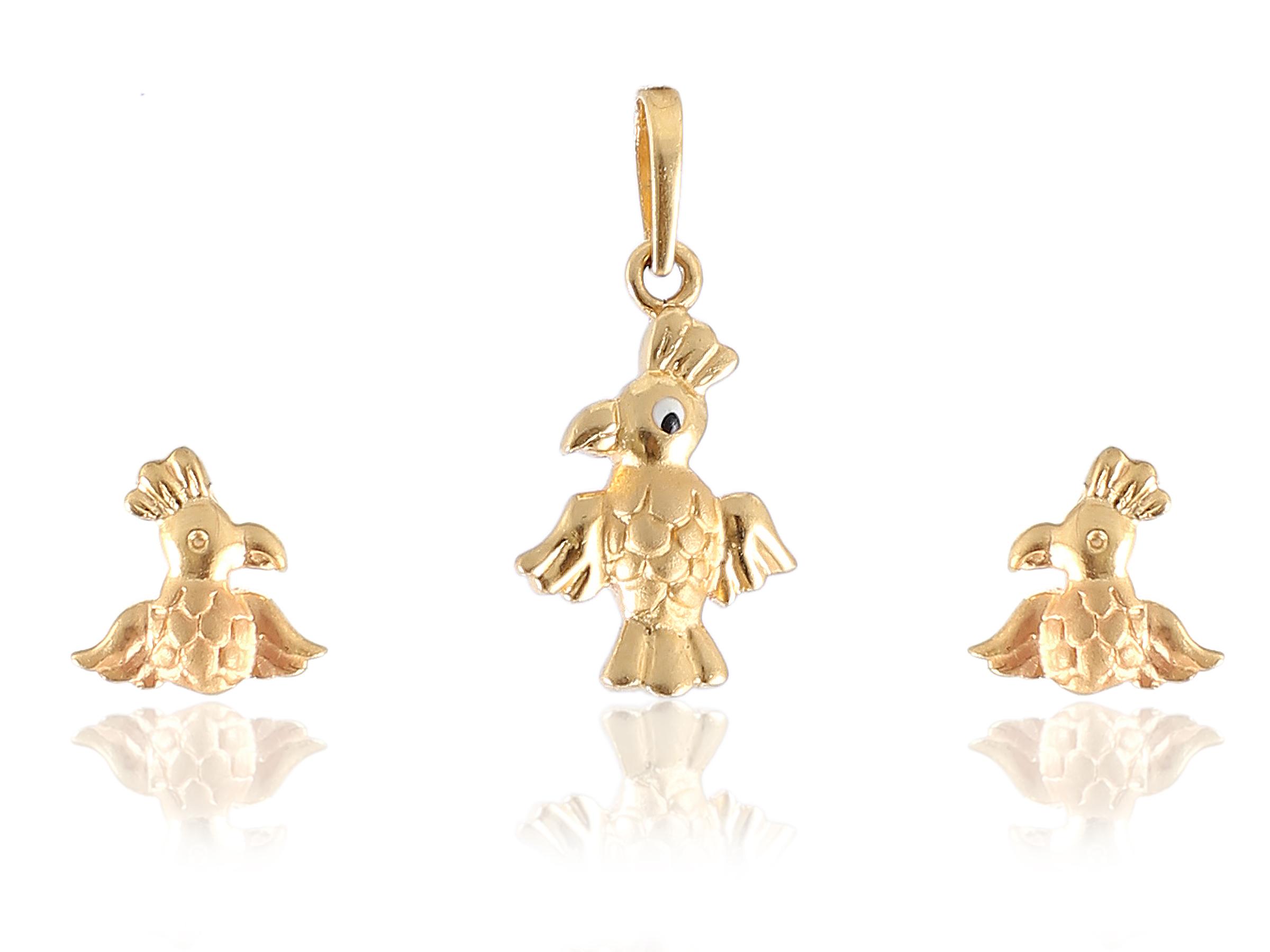 Pendant Earring Set In BIS Hallmark 22KT Gold