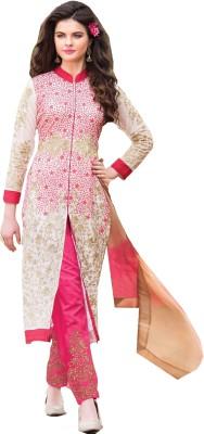 V2V Fashion Georgette Self Design Salwar Suit Dupatta Material