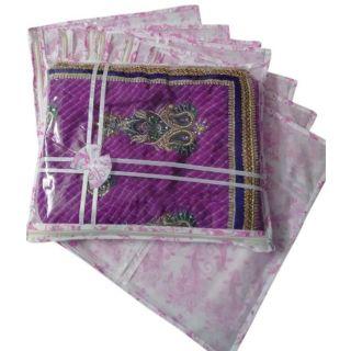 Fashion Bizz Designer Transparent Set Of 8 Multicolor Saree Cover