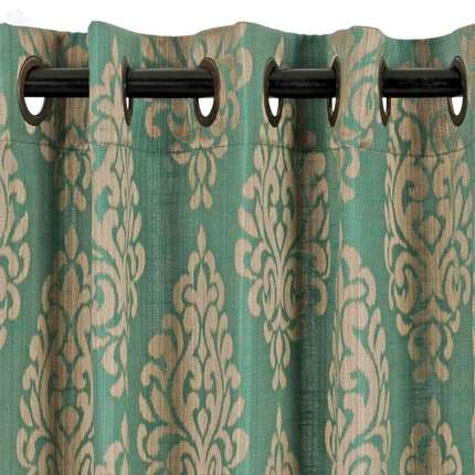 D Decor Window Curtain Strea Teal Poly Jacquard 4 Ft 7