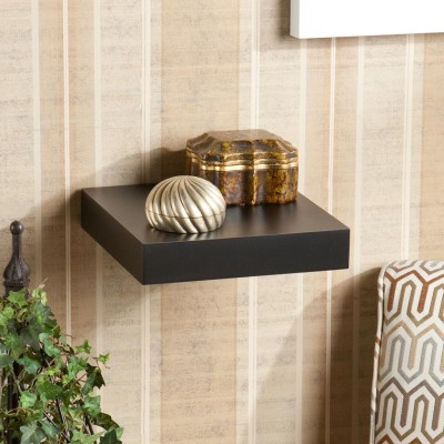 The New Look Mw21ablack Wooden Wall Shelf