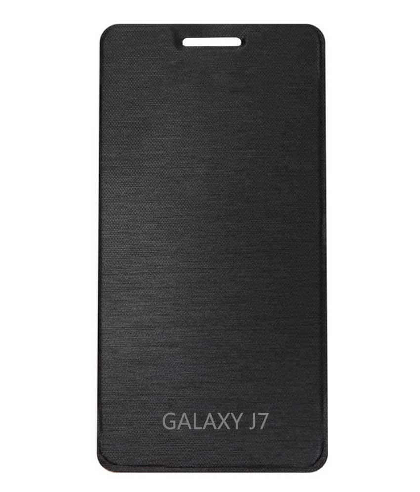 TBZ Flip Cover Case for Samsung Galaxy J7  Black