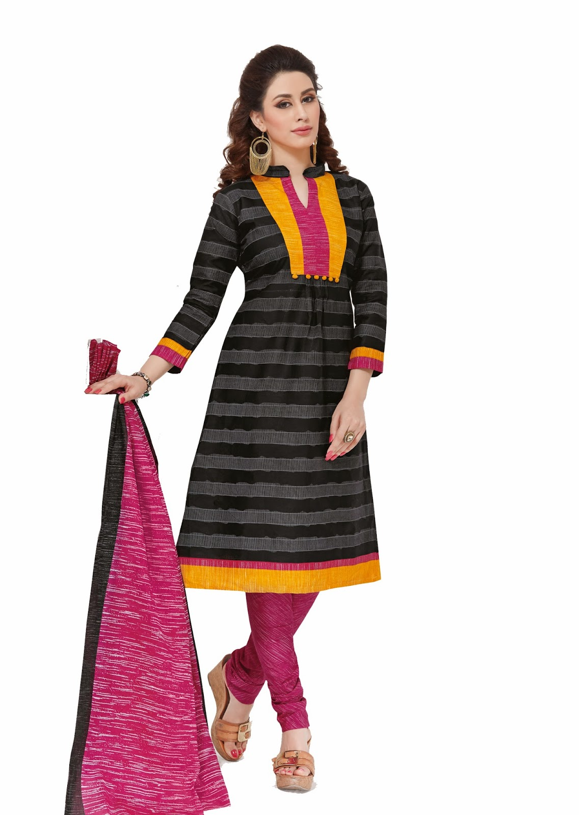 Sai Bliss Cotton Printed Salwar Suit Dupatta Material