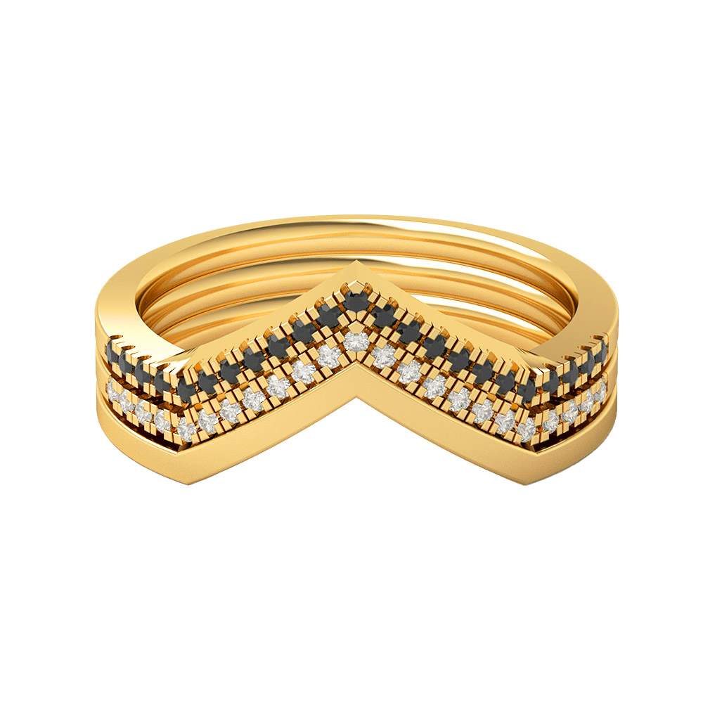 Real Diamonds And Hallmarked 14Kt Yellow Gold Ring La 13_Yellow_Gold_14Kt