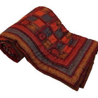 Krg Jaipuri Print Cotton Double Bed Razai Quilt  301