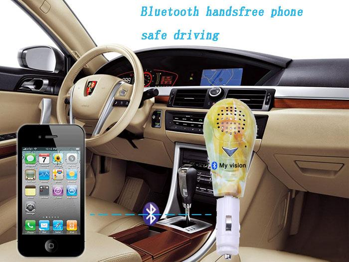 Portable Wireless Car FM Handsfree Speaker for Bluetooth MP3 Player