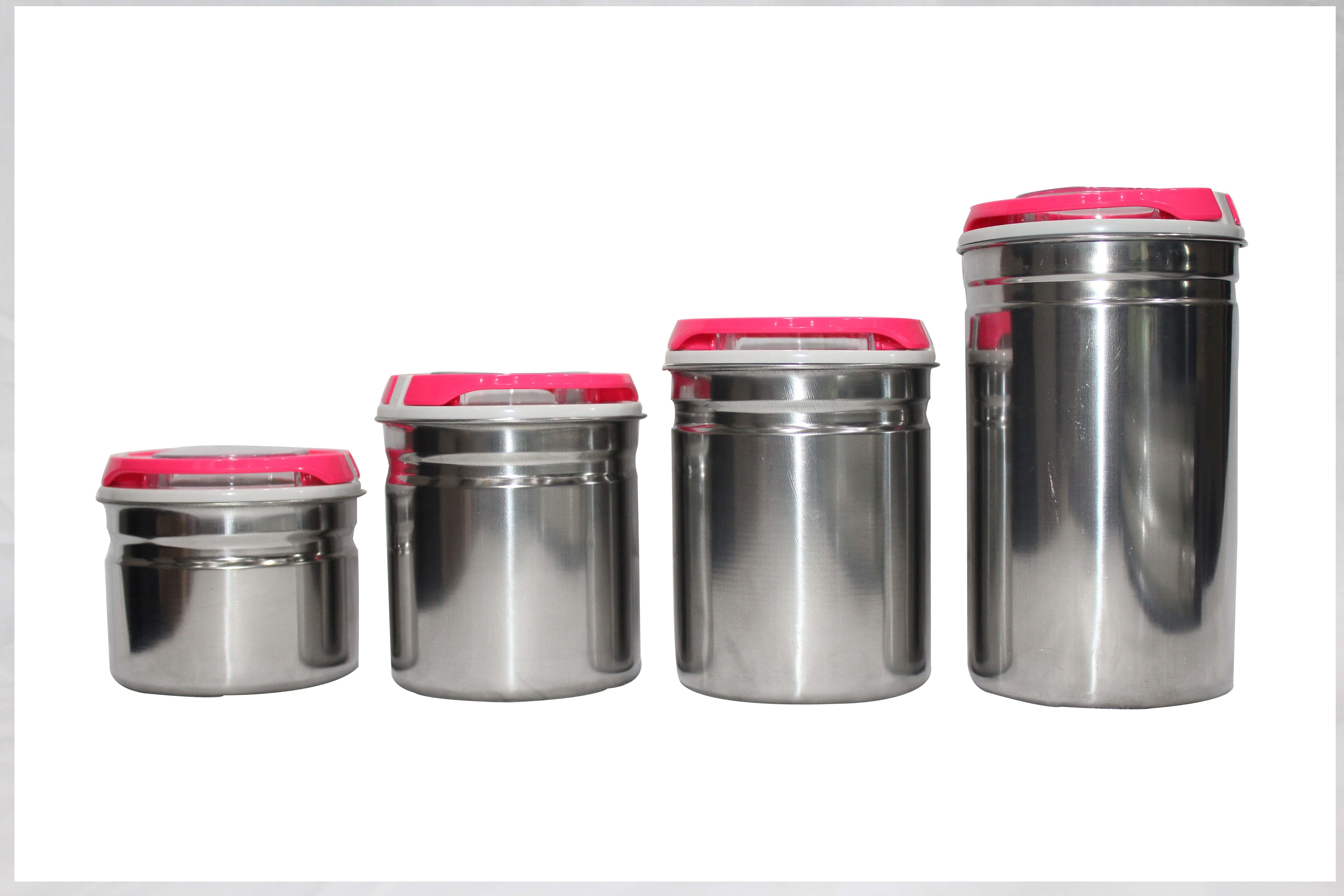 Blue Birds - 1000 ml, 800 ml, 500 ml, 300 ml Stainless Steel Multi-Purpose Storage Containers