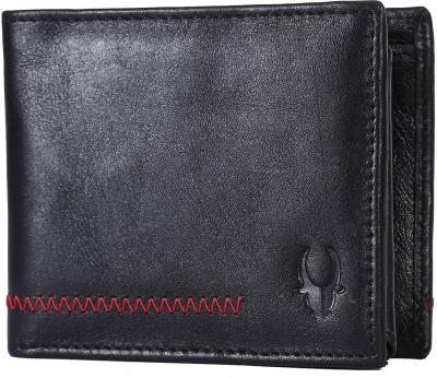 Wildhorn Men Casual, Formal Black Genuine Leather Wallet  5 Card Slots