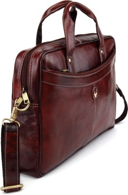 Wildhorn 14 Inch Laptop Messenger Bag  Brown