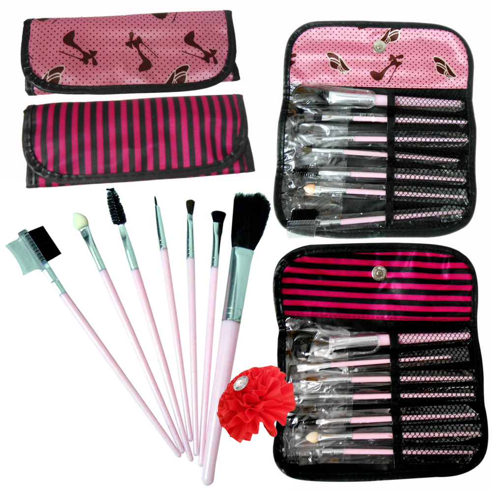 Adbeni Wallet Makeup Brush 7 In 1 Set 01 For All Skin Types  Set of 1