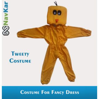 Tweety Bird Costume For Child Fancy Dress Competition Small Size 4 - 7 Years