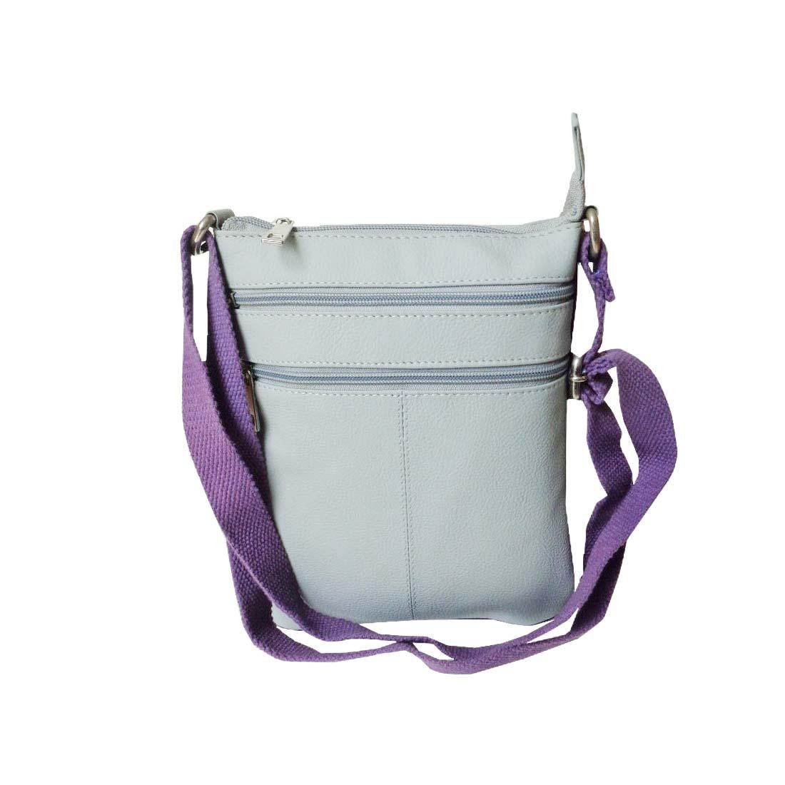 Style 98 Womens Sling Bag HandBag Messenger Bags Satchel Bag   Light Grey 3005IT