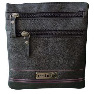 Style 98 Womens Sling Bag HandBag Messenger Bags Satchel Bag   Black and Purple