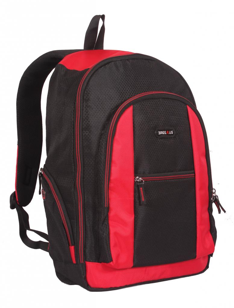Laptop Bag   Backpack   Black   Red Color Unisex Bags   By Bags R Us