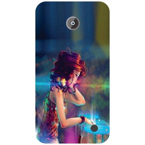 Printland Girl Back Cover For Nokia Lumia 63
