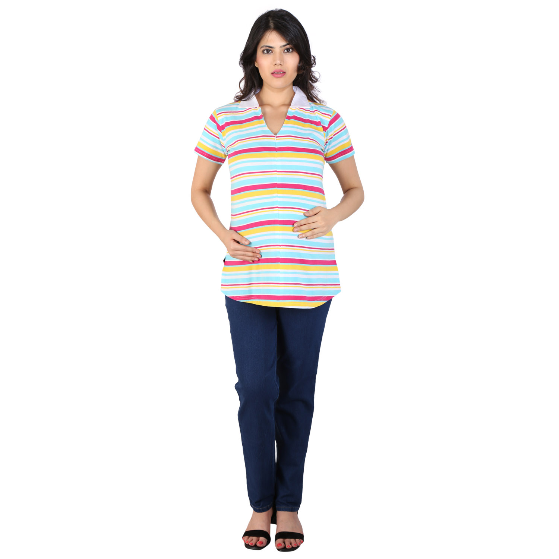 MomToBe Maternity / Pregnancy stripes T shirt