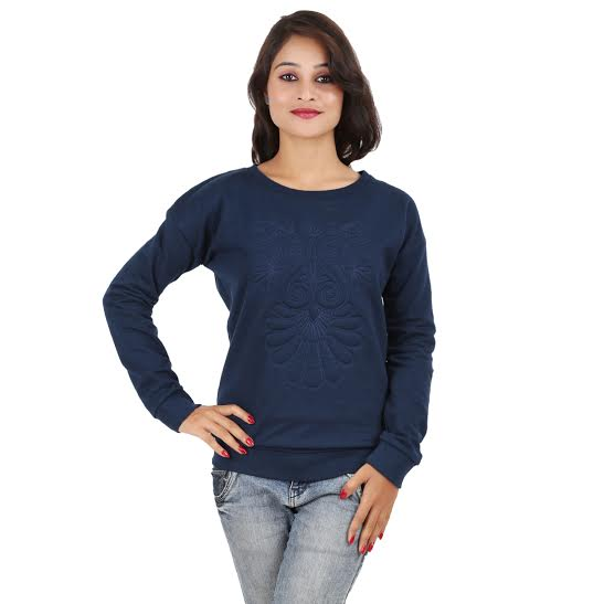 MA Casual Full Sleeve Printed Womens Top