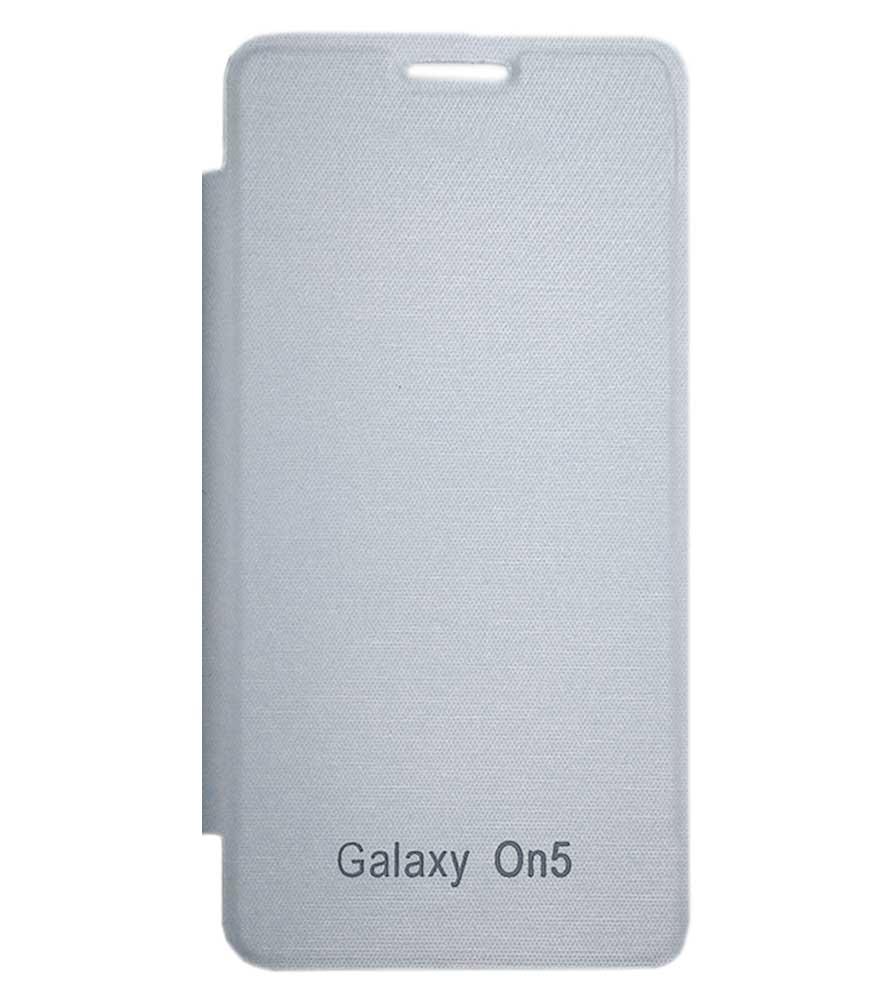 TBZ Flip Cover Case for Samsung Galaxy on5  White