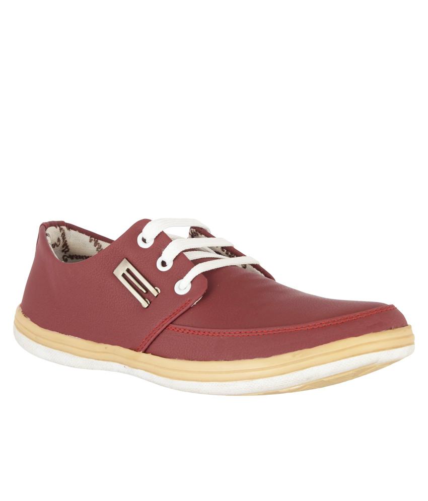 Hillsvog Red Casual sneaker Men Shoes 3002