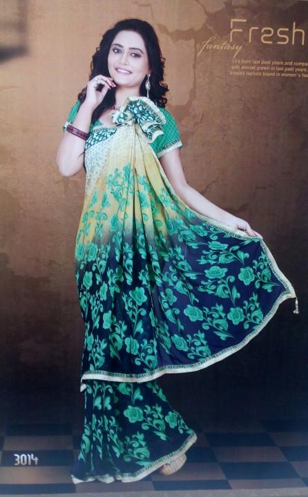 Pakhi printed Bollywood chiffon saree