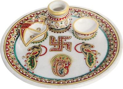Handicrafts Paradise Stoneware Pooja Thali Set