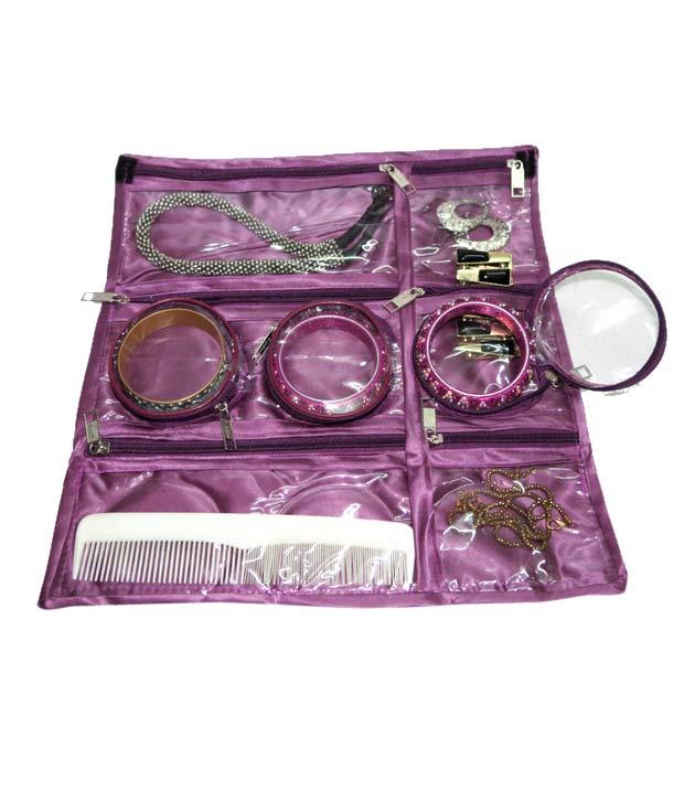 ADDYZ Purple Cosmetic   Jewellery Foldable Organizer