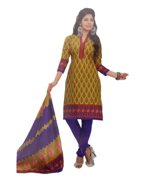Lerofs Cotton Design Printed Salwar Suit Dupatta Material