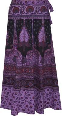 Pezzava Printed Womens Wrap Full Length Casual Around Skirt
