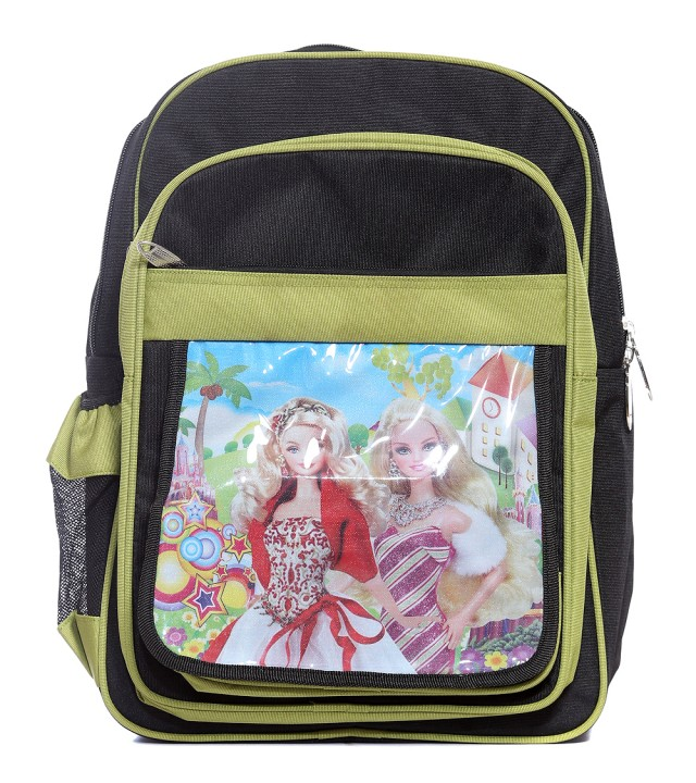 AJANTA BAGS barbie black/green school bag